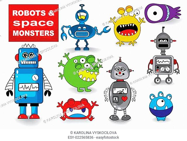 Set of Monsters and Robots