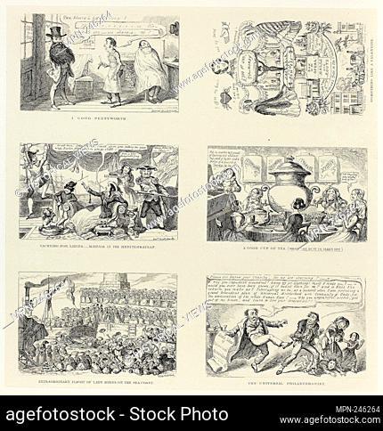 A Good Pennyworth from George Cruikshank's Steel Etchings to The Comic Almanacks: 1835-1853 (top left) - 1848, printed c