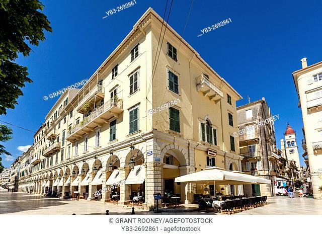 The Fashionable Liston Area Of Corfu Old Town, Corfu, Greece