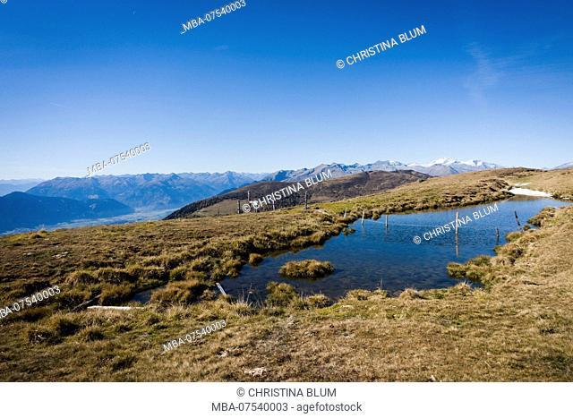 Panoramic view with mountain lake, Obermillstatt, Lake Millstatt, Carinthia Austria