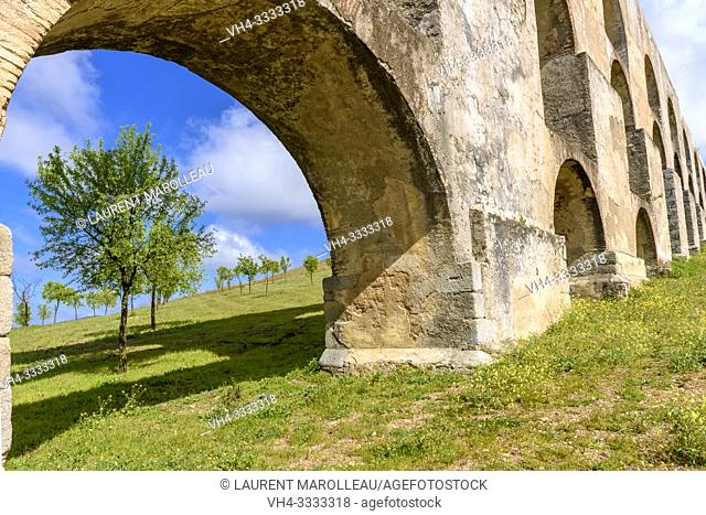 Amoreira Aqueduct, Garrison Border Town of Elvas and its Fortifications, Portalegre District, Alentejo Region, Portugal, Europe