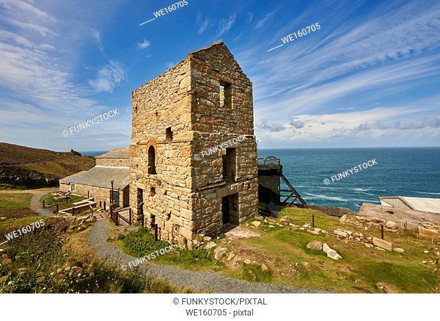 Engine houses of Levant Tin Mine, Cornwall