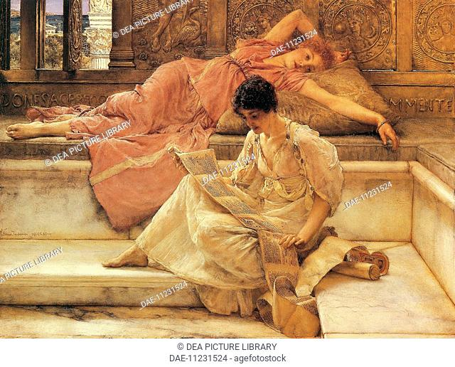 The favorite poet, 1888, by Lawrence Alma-Tadema (1836-1912).  Port Sunlight, Lady Lever Art Gallery