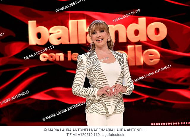 Milly Carlucci at the tv show Ballando con le setelle (Dancing with the stars) Rome, ITALY-11-05-2019