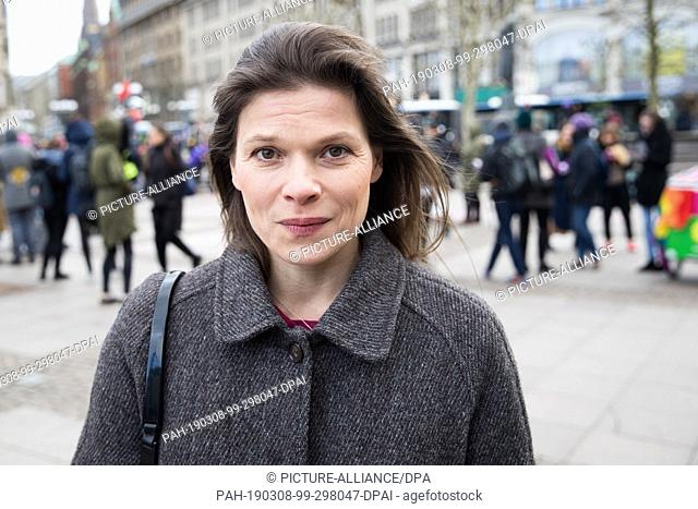 08 March 2019, Hamburg: Gender researcher Stevie Schmiedel, managing director and initiator of the protest organisation Pinkstinks
