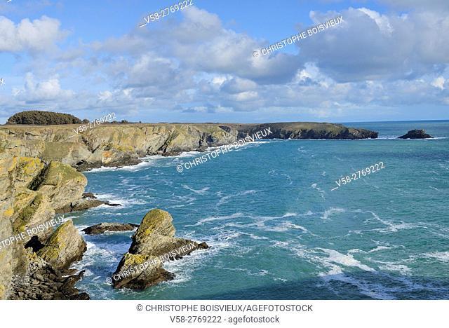 France, Brittany, Morbihan, Belle-Ile, Bangor surroundings, Cote sauvage
