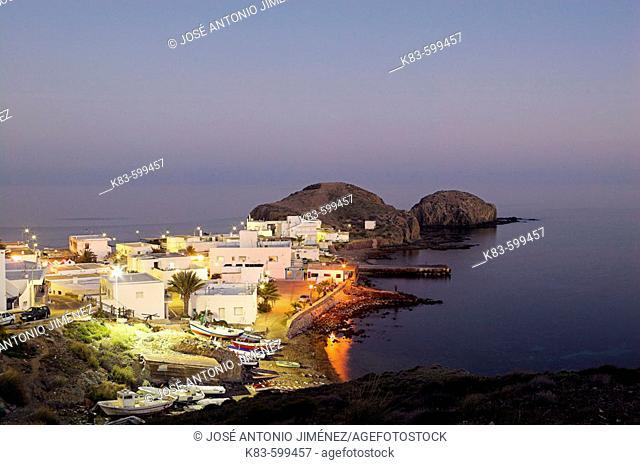 Isleta del Moro fishing village, Cabo de Gata-Níjar Natural Park. Almería province, Andalusia. Spain