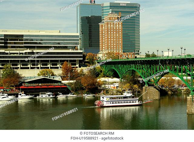 Knoxville, TN, Tennessee, Downtown Skyline, Tennessee River