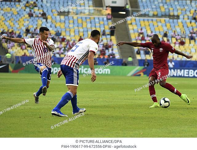 16 June 2019, Brazil, Rio de Janeiro: Soccer: Copa América, Paraguay - Qatar, preliminary round, Group B, Matchday 1, at Estadio do Maracana