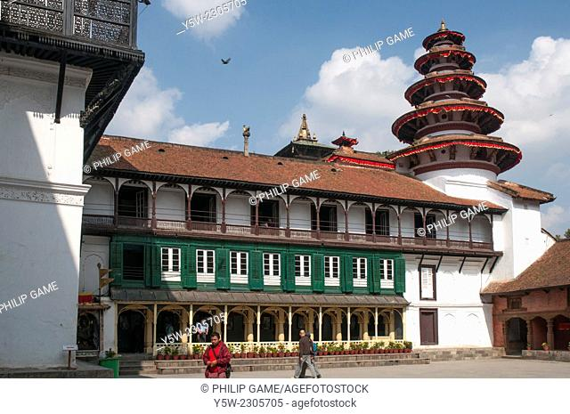 Main courtyard of Hanuman Dhoka Palace on Durbar Square, Kathmandu. Taken before the catastrophic April 2015 earthquake