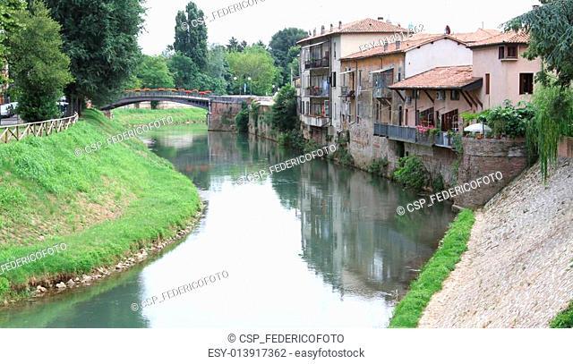 Bacchiglione River which crosses the Santa Croce district