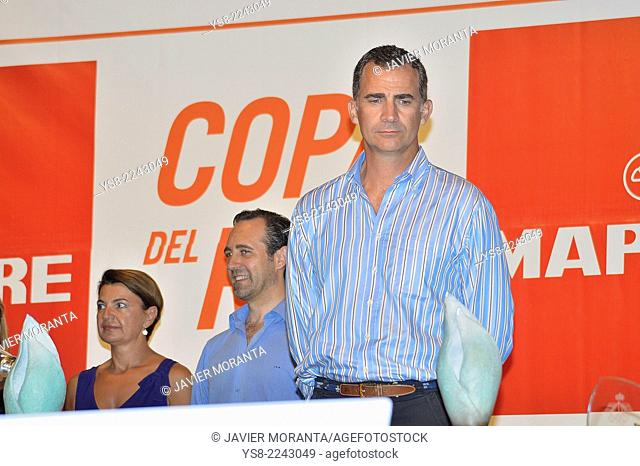 King Felipe VI at the awards ceremony of the 33rd edition of the Copa del Rey de Vela, Palma de Mallorca, Balearic Islands, Spain