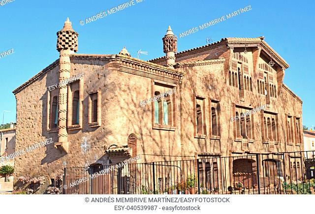 Colonia Güell, Ca L'Espinal building, province of Barcelona. Spain