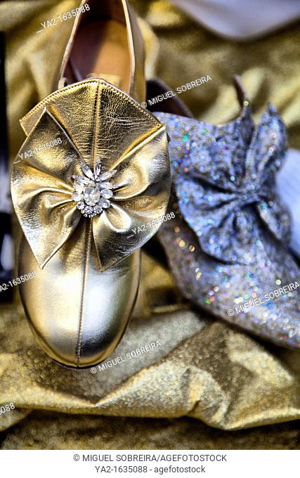 Sparkly Dance Shoes through shop window