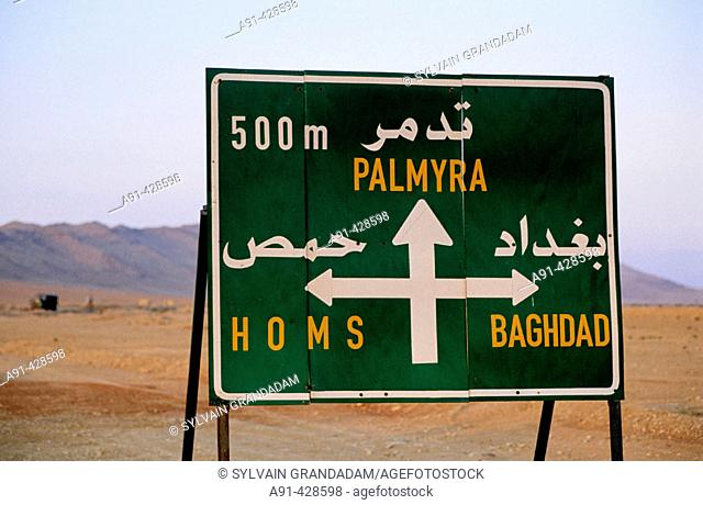 On the road from Damascus to Palmyra. Syria
