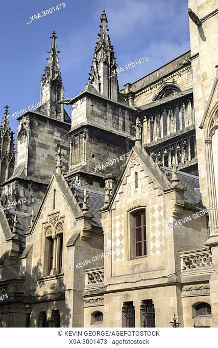 Cathedral Church Facade; Bordeaux; France