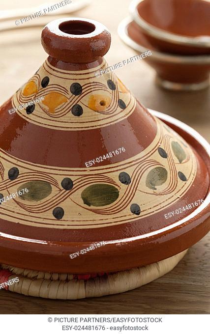 Traditional Moroccan decorated tajine