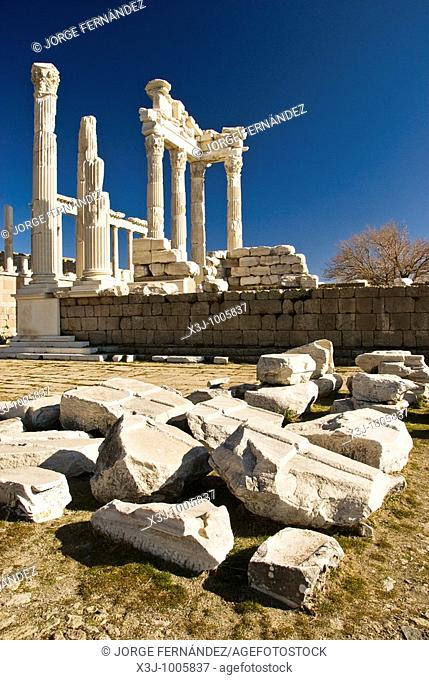 Ruins of the ancient city of Bergama, Turkey, Asia