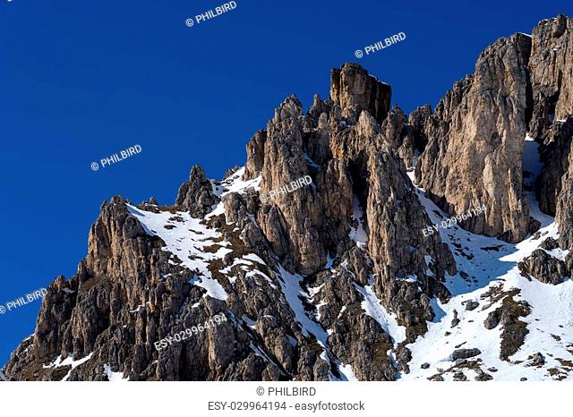 View of the Dolomites from the Pordoi Pass