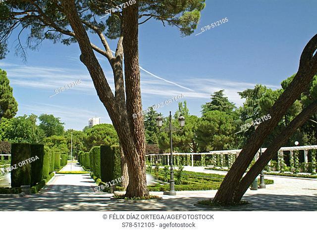 Retiro Park. Madrid. Spain.  Mr.Cecilio Rodriguez Gardens
