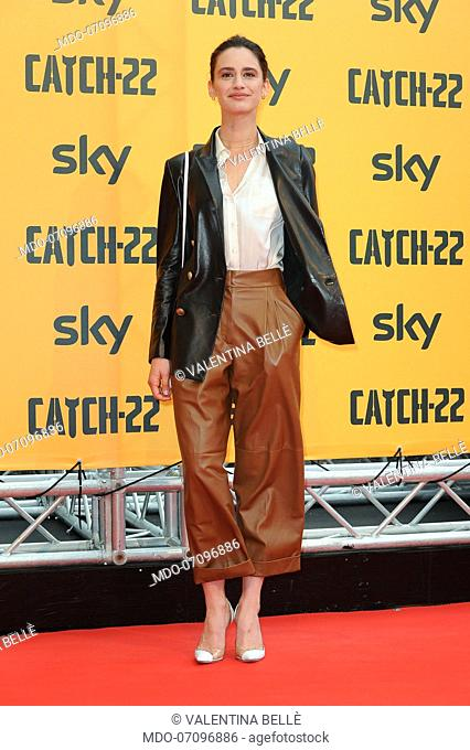 Italian actress Valentina Bellè attends the premiere of the Sky TV serie Catch-22. Rome (Italy), May 13th, 2019