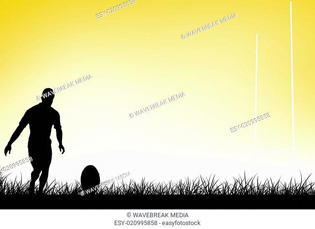 Player drop kick Stock Photos and Images | age fotostock