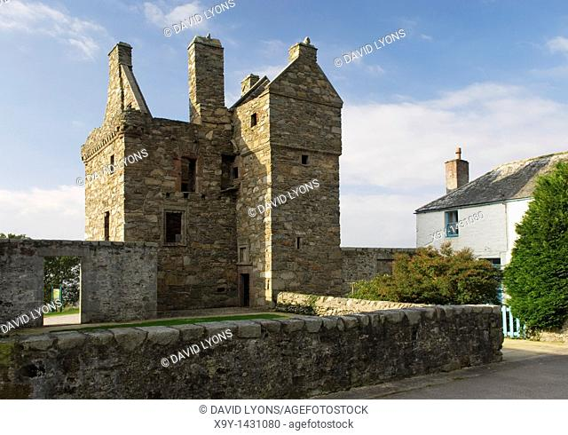 Carsluith Castle  16th C  fortified tower house near Creetown in the Dumfries and Galloway region of Scotland
