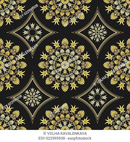 vector seamless elegant lace gold ornament