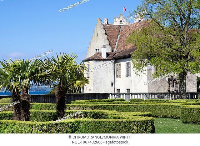Burg Meersburg, Old Castle and Castle Gardens, Meersburg, Lake Constance, Baden-Wuerttemberg, Germany, Europe