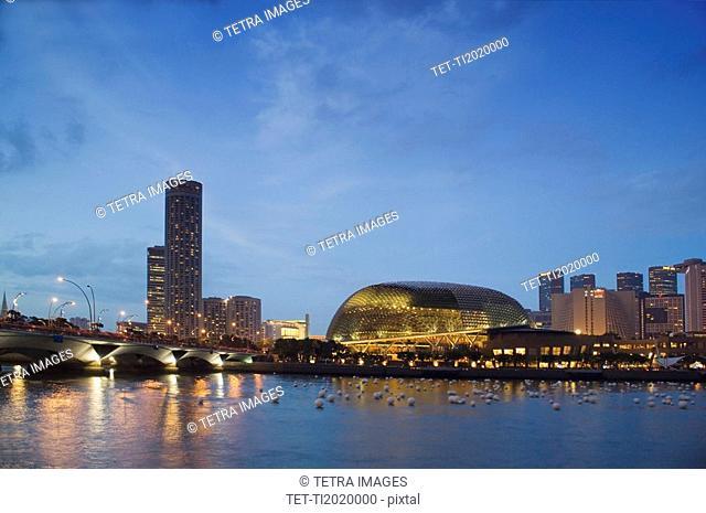 Esplanade Marina Promenade and Theatres on the Bay Singapore River Singapore