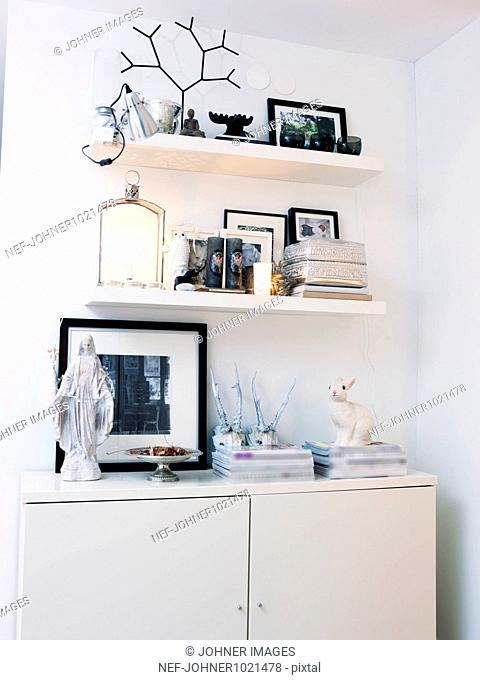 Wall unit in bedroom
