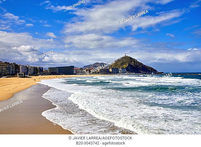 Zurriola beach, Donostia, San Sebastian, Gipuzkoa, Basque Country, Spain, Europe