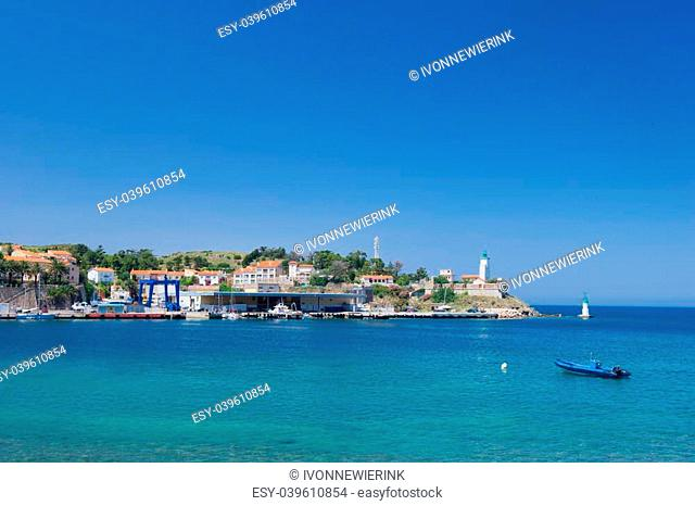 Landscape with harbor of Port Vendres