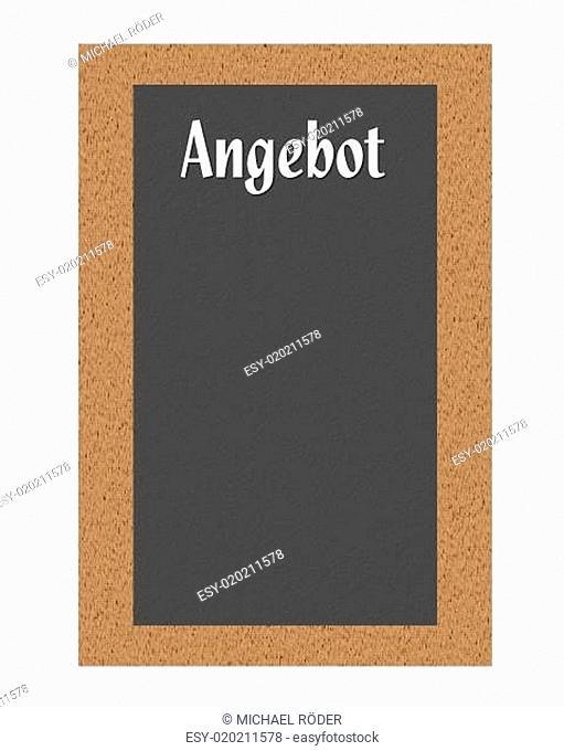 angebotstafel