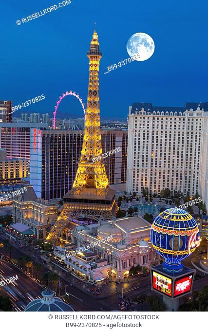 Hotel Casinos The Strip Las Vegas Skyline Nevada Usa
