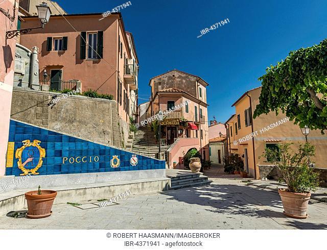 Mountain village of Poggio, Elba Island, Livorno, Tuscany, Italy