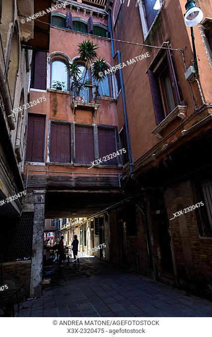 Venetian alleyways. Venice, Italy