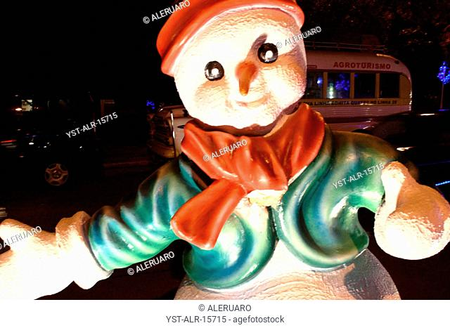 Snowman, decoration, Brazil