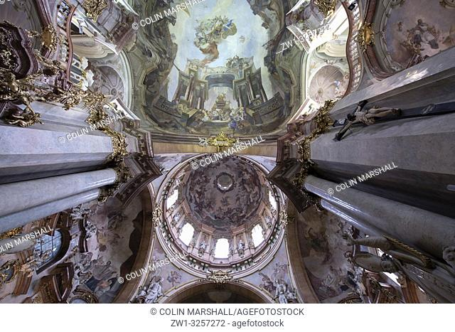 Paintings on ceiling, St Nicholas Church, Lesser Town Square, Prague, Czech Republic