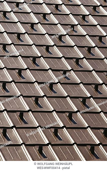 Roof tiles, full frame, close up