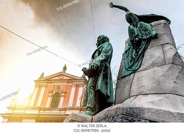 Preseren Monument, Ljubljana, Slovenia
