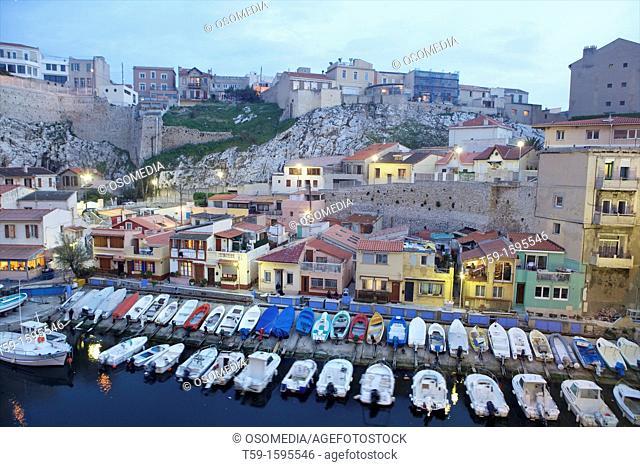 Hafen Vallo des Auffes, Marseille, Cote d Azur, France