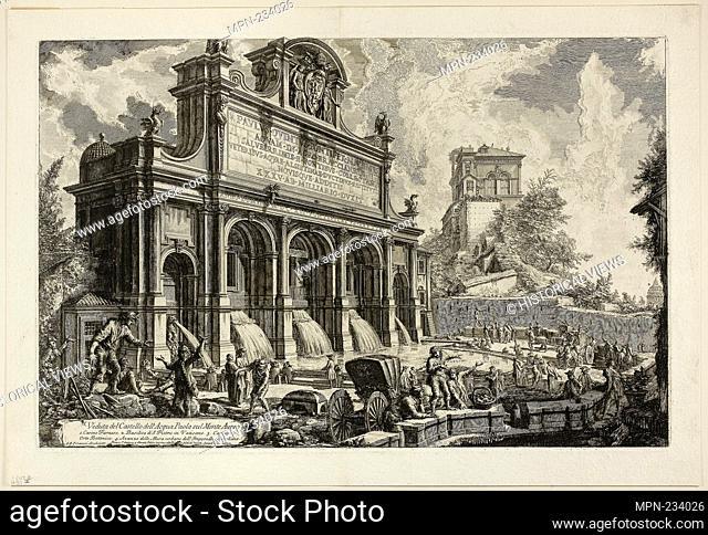 View of the Fountainhead of the Acqua Paola on Monte Aureo, from Views of Rome - 1750/59 - Giovanni Battista Piranesi Italian