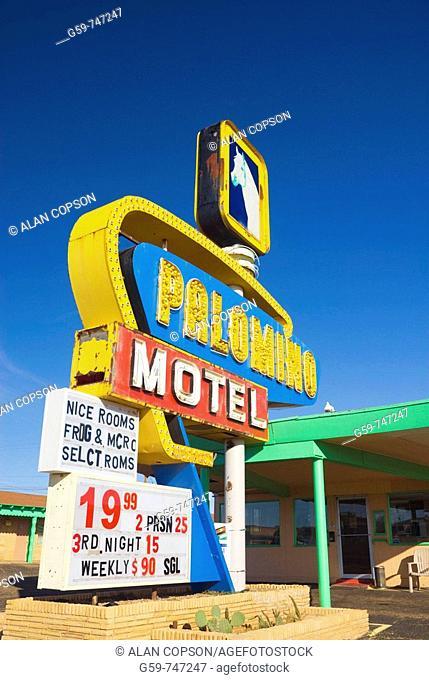 USA  New Mexico  Route 66  Tucumcari  Palomino Motel