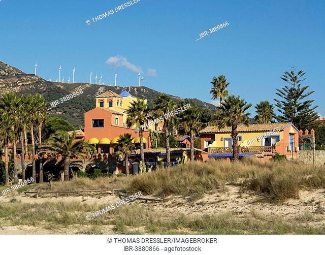 Hotel Dos Mares at the Playa de los Lance, near Tarifa, Costa de la Luz, Cádiz province, Andalusia, Spain