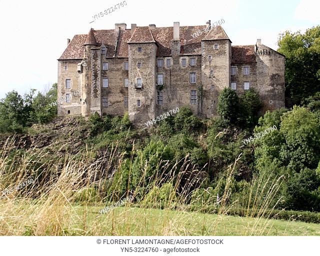 Chateau de Boussac, Creuse, Nouvelle-Aquitaine
