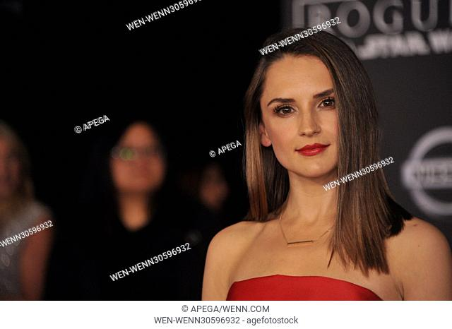 World premiere of 'Rogue One: A Star Wars Story' held at Pantages Theatre - Arrivals Featuring: Rachael Leigh Cook Where: Los Angeles, California