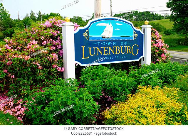 lunenburg sign, N. S. Canada