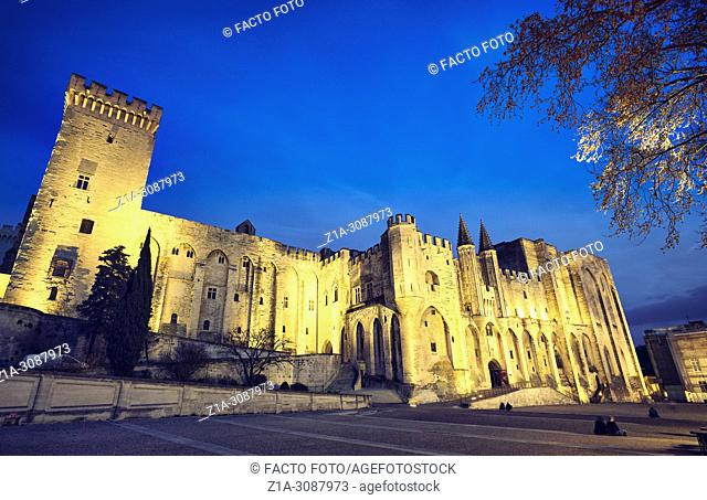 The Papal palace. UNESCO World heritage site. Avignon. Provence-Alpes-Côte d'Azur. France