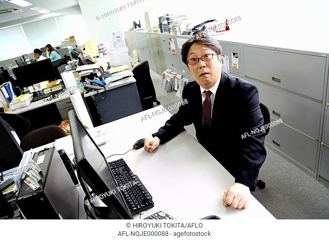 Japanese boss in the office